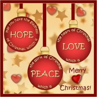 Hope-Love-Peace Merry Christmas